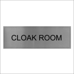 Cloak Room Sign