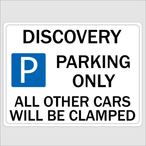 Discovery Parking Sign