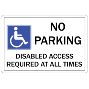 No Parking Disabled Access 2