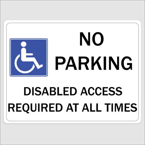 Disabled No Parking Sign