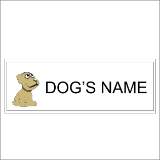 Dog's Name Sign