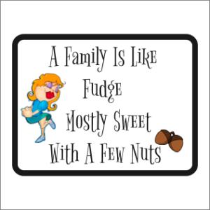 Family Fudge Sign