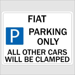 Fiat Parking Sign