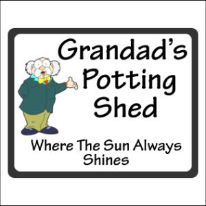 Grandads Potting Shed Sign