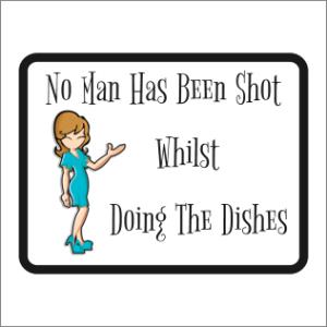 No Man Has Been Shot Sign