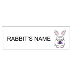 Rabbit's Name Sign