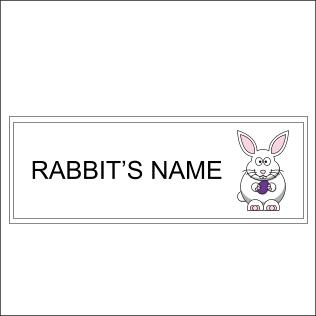 Rabbit's Name Sign