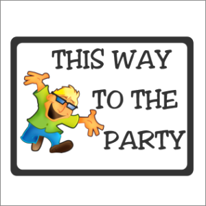 This Way To The Party Garden Sign