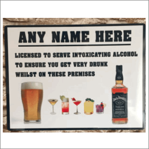 Licensed For Alcohol Sign