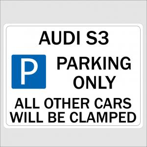 AUDI S3 Parking Signs
