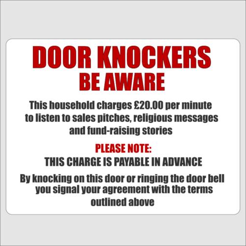 Door Knockers Beware