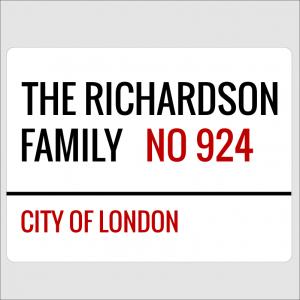 Family Street Sign