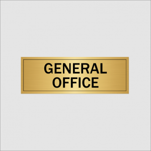 General Office Sign Gold