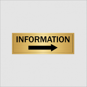 Information right hand arrow gold