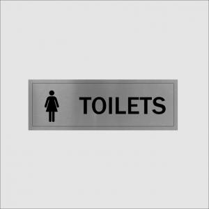 Ladies Toilet Sign Silver