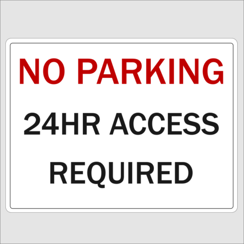 No Parking 24hr Access Required