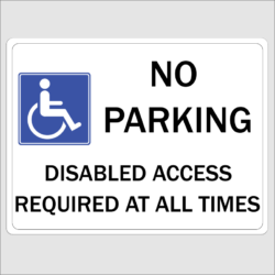 Disabled No Parking Signs