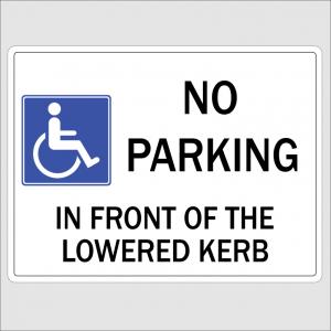 No Parking Lowered Kerb