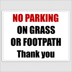 No Parking On The Grass Or Footpath