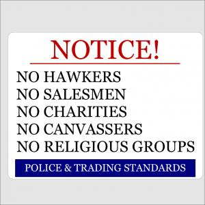 Notice No Hawkers