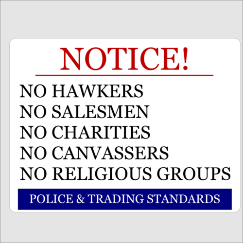 Notice No Hawkers