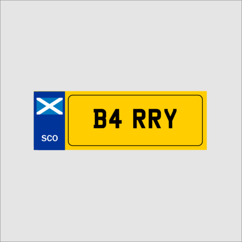 Novelty Number Plate Scotland