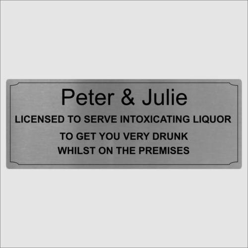Personalised Bar Sign Lic