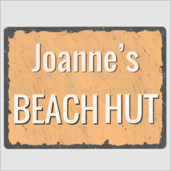 Beach Hut Signs
