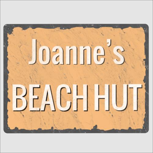 Personalised Beach Hut Sign
