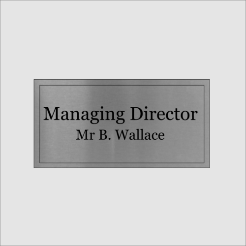 Personalised Maging Director Silver