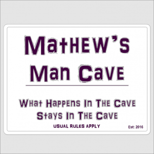 Personalised Man Cave
