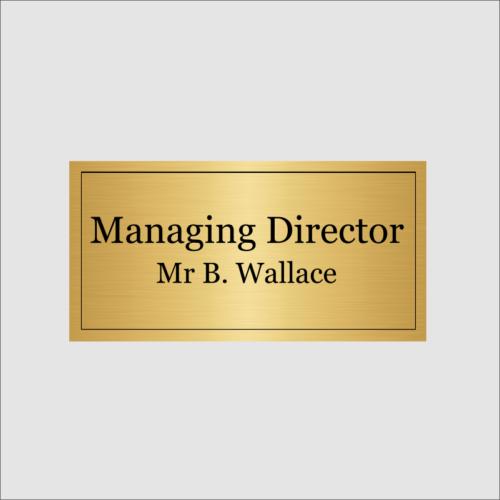 Personalised Managing Director