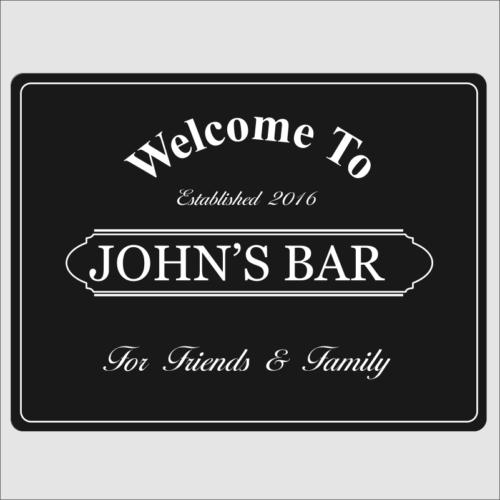 Welcome Bar Black