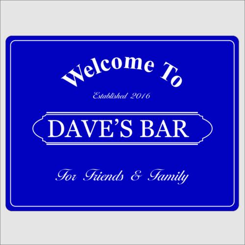 Welcome Bar Blue 1