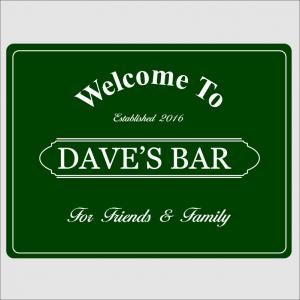 Welcome Bar Green