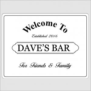 Welcome Bar White