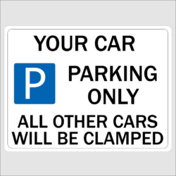 Novelty Car Parking Signs