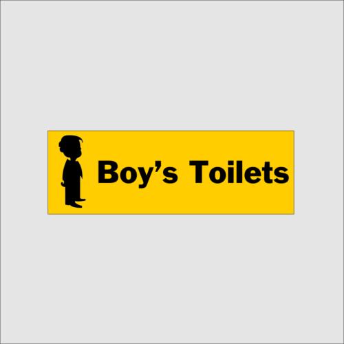 Boys Toilet Sign