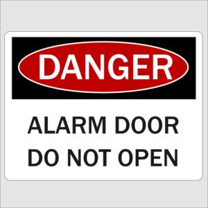 Danger Alarmed Door