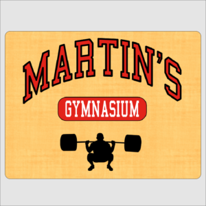 Personalised Gym Sign Red