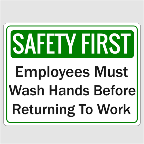 Safety First Wash Hands