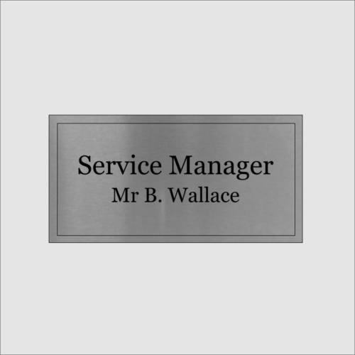 Service Mangager Silver