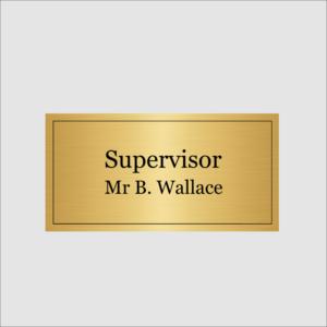 Supervisor Gold