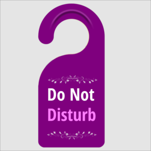Do Not Disturb Plum