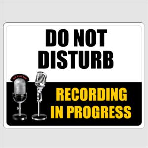 Do Not Disturb Recording In Progress