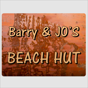 Beach Hut Sign