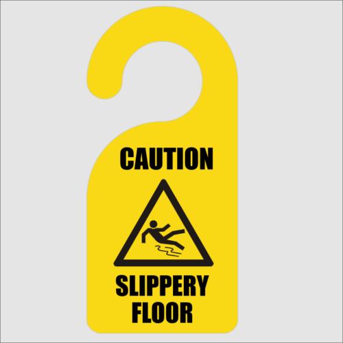 Caution Slippery Floor Door Hanger