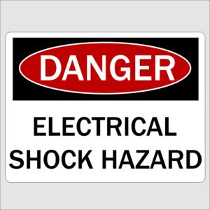 Danger Electrical Shock Hazard Sign