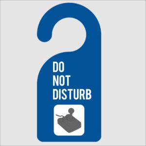 Do Not Disturb Gaming Door Hanger