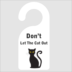 Dont Let The Cat Out Door Hanger